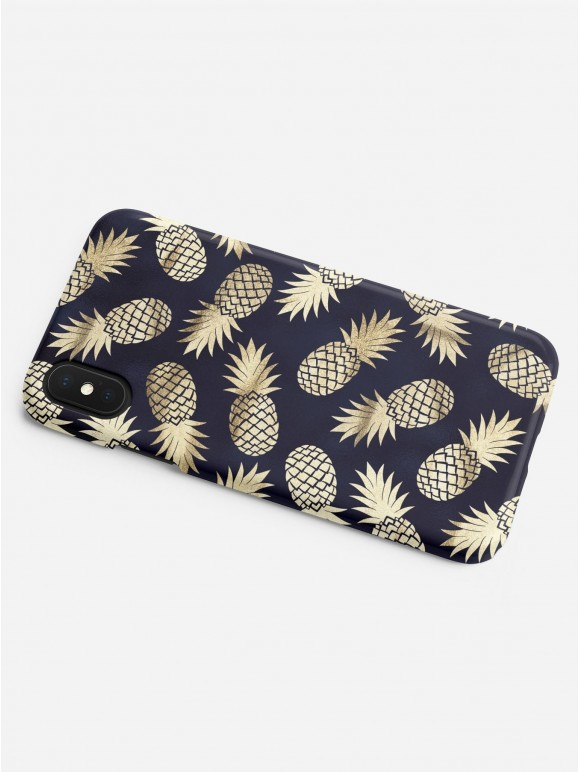 Dark Golden Pineapples Case