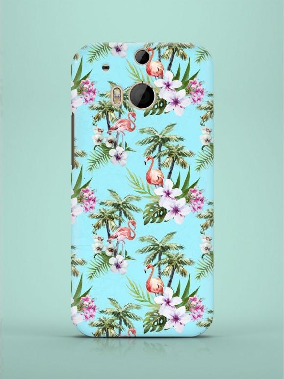 Blue Exotic Flamingos Case