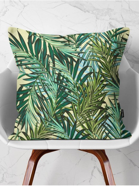 Throw Pillow Yellow Tropical Vibes