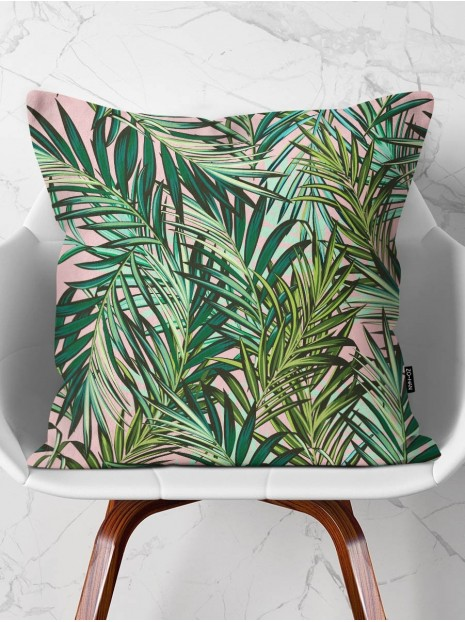 Throw Pillow Pink Tropical Vibes