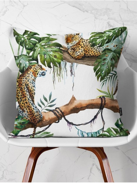 Throw Pillow Leopards