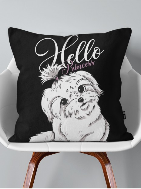 Throw Pillow Maltese Puppy