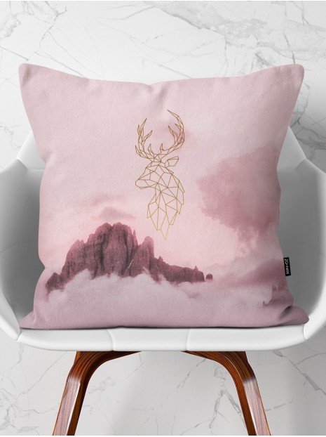 Golden Deer Pillow