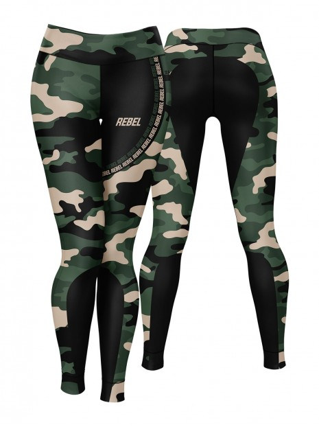 Rebel Camo Black Leggings