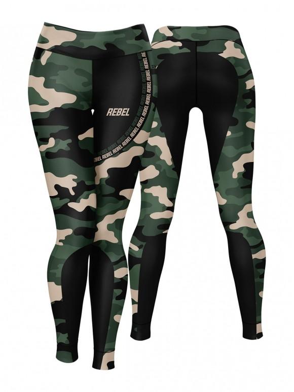 Rebel Camo Black Leggings