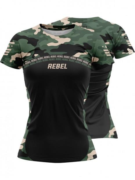 Rebel Camo Black - Koszulka treningowa