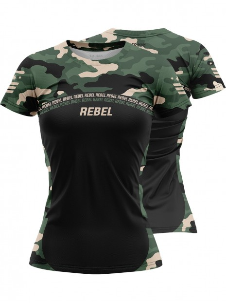 Training T-shirt Rebel Camo Black