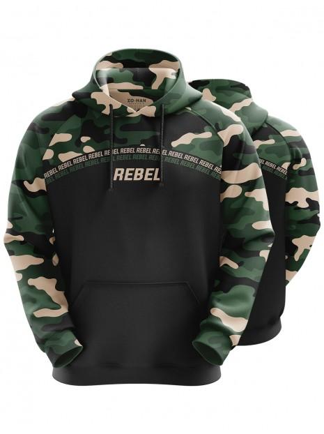Rebel Camo Black Hoodie