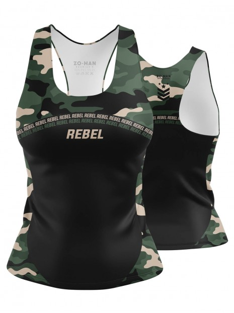 Rebel Camo Black Tank Top