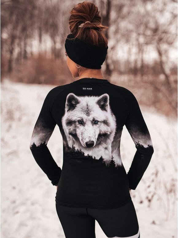 Sportowy Longsleeve Silver Wolf
