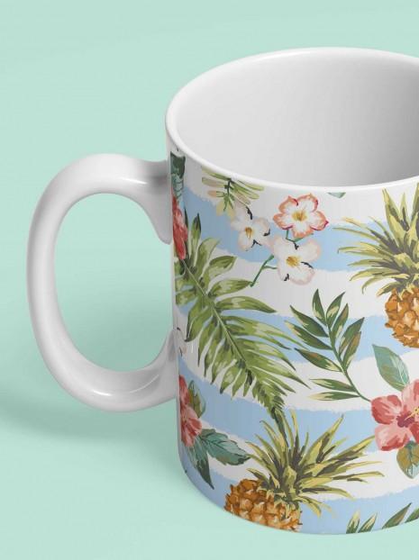 Striped Pineapples Mug