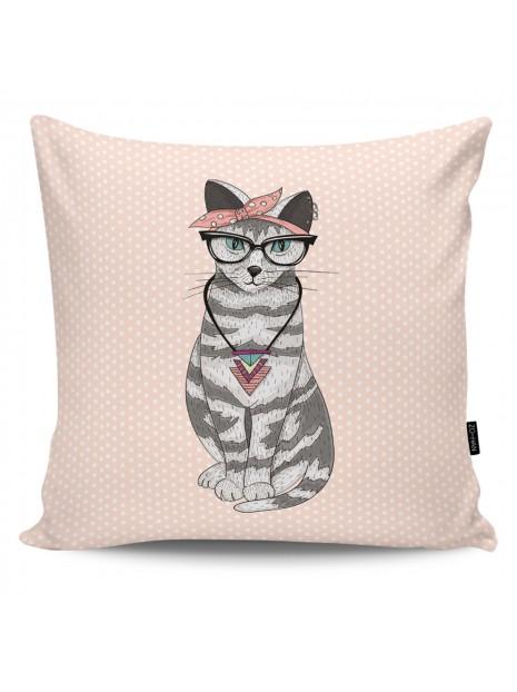 Poduszka Dekoracyjna Hipster Cat