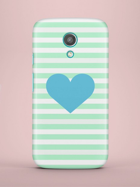 Blue heart Case