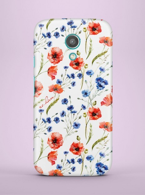 Poppy seed flowers Case