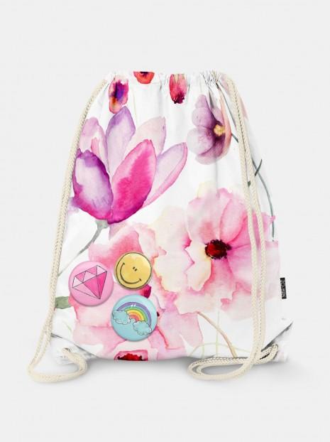 Water Flowers Bag