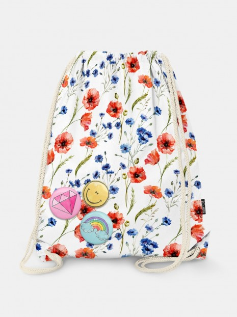 Poppy Seed Flowers Bag