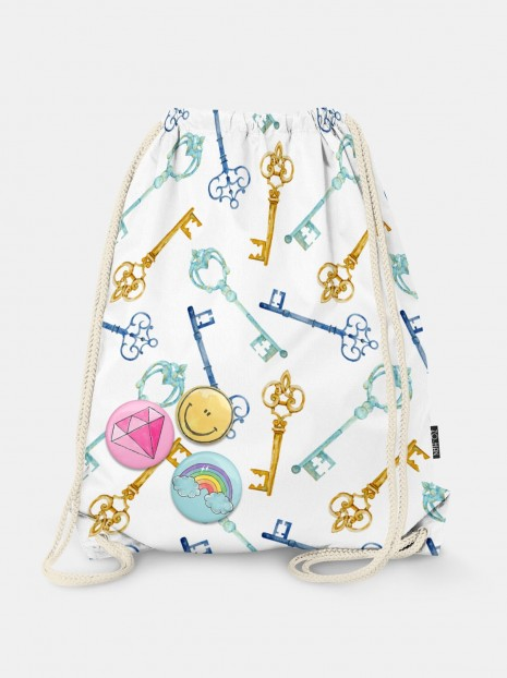 Secret Garden Key Bag
