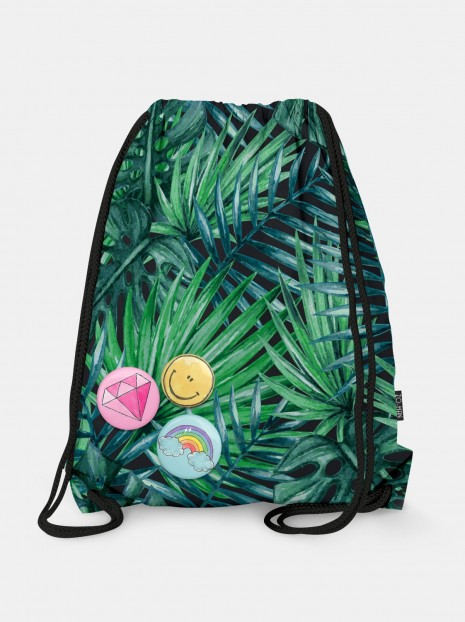 Dark Palm Leaves Bag