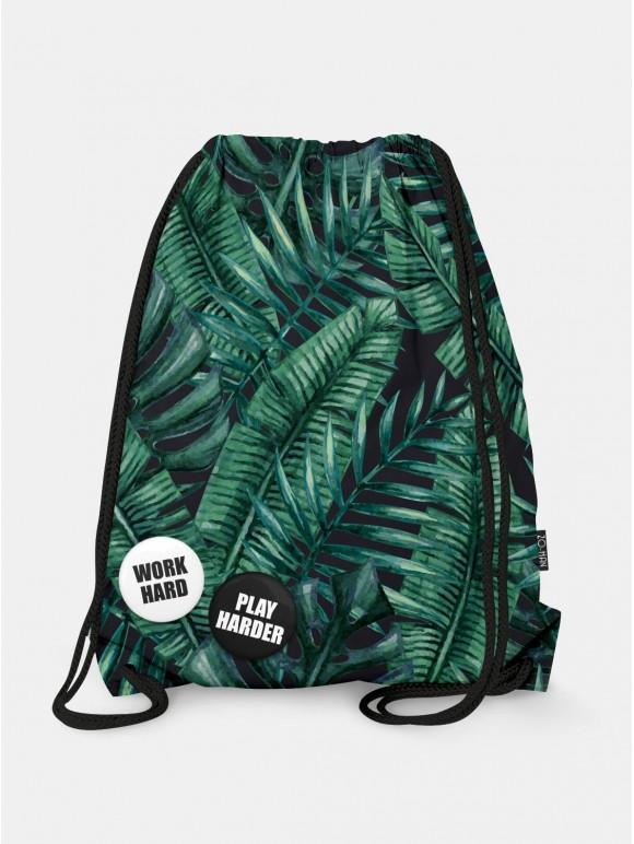 Dark Palm Leaves Bag