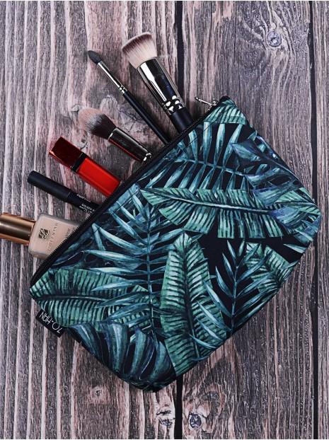 Kosmetyczka Dark Palm Leaves
