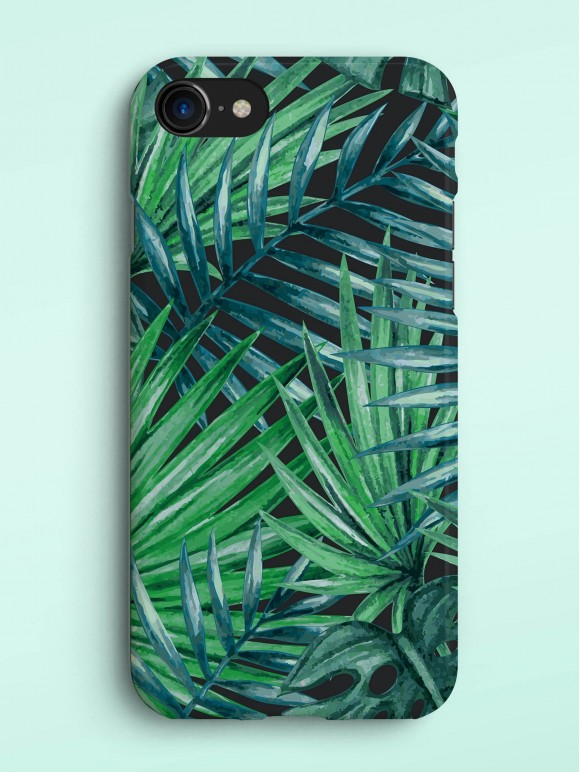 Dark Palm Leaves Case