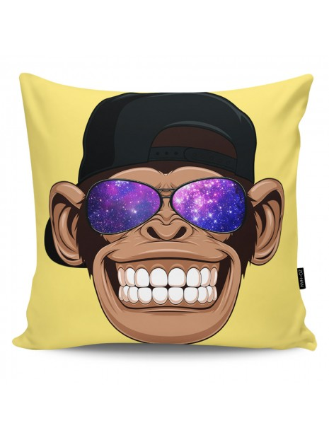 Throw Pillow Galaxy Monkey