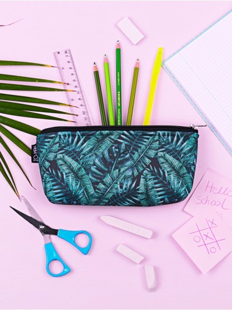 Dark Palm Leaves Pencil-case