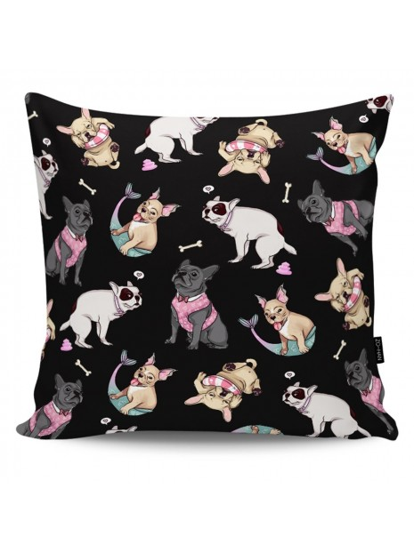 Throw Pillow Bulldog's Adventures