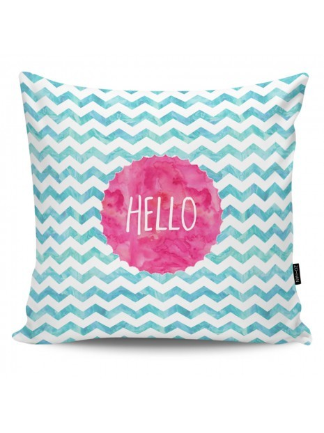 Throw Pillow Hello