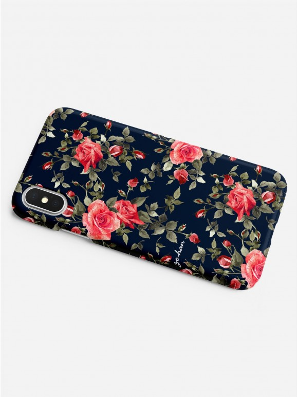 Dark Red Roses Case