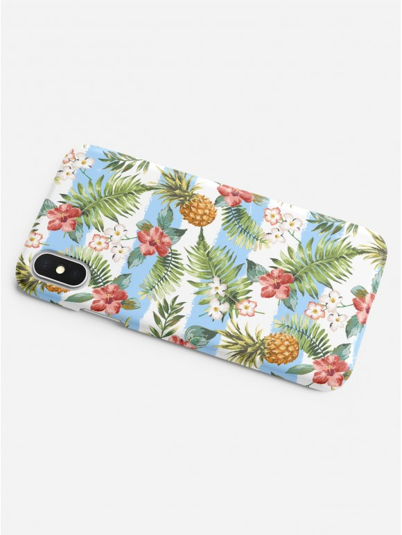 Blue Striped Pineapples Case