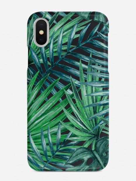 Dark Palm Leaves Case