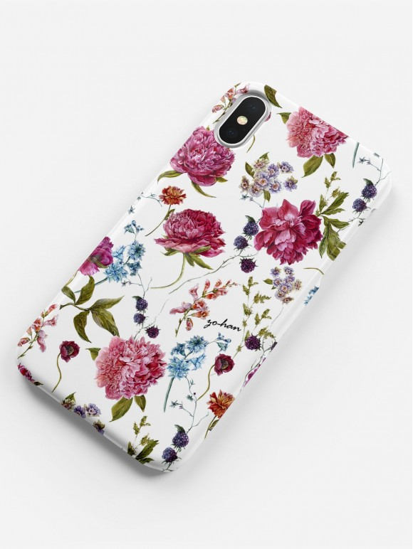 Burgundy & Peonies Case