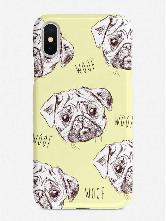 Pugs in Yellow Case