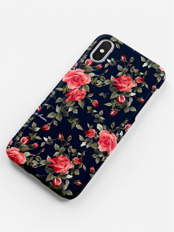 Dark Red Roses Case