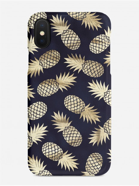 Dark Golden Pineapples Case