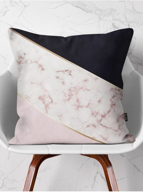 Throw Pillow Rose Marble Mix