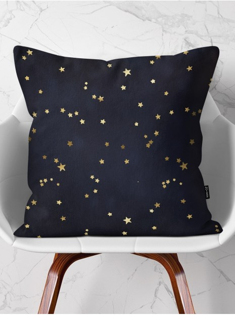 Throw Pillow Golden Stars